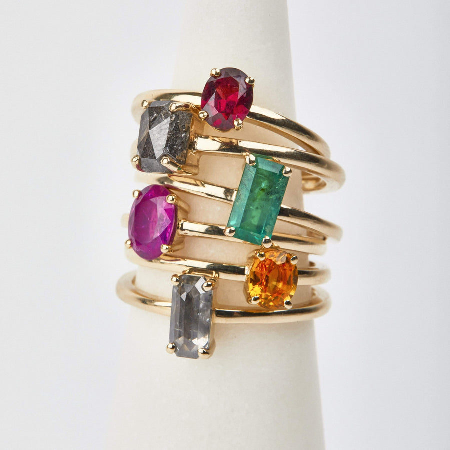 Sophia Perez Jewellery Rings Ruby Gold Stack Ring