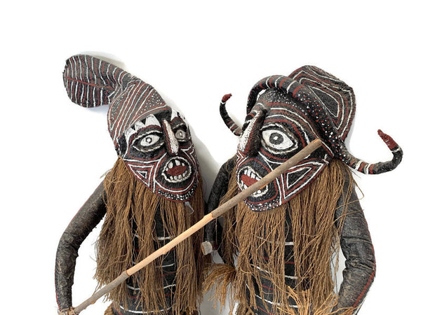 Folk Art Warriors, a pair