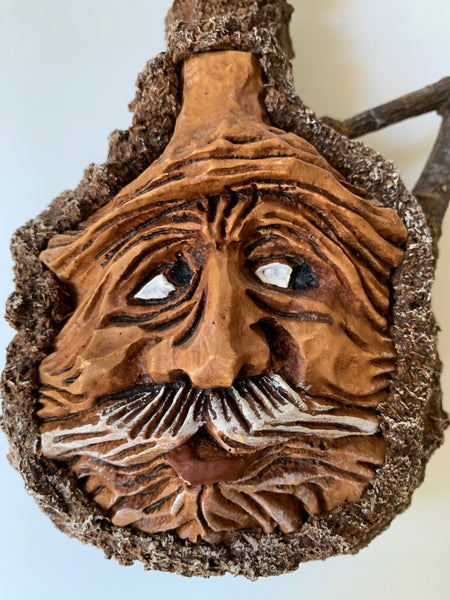 Faux Bois Face Jug Decanter