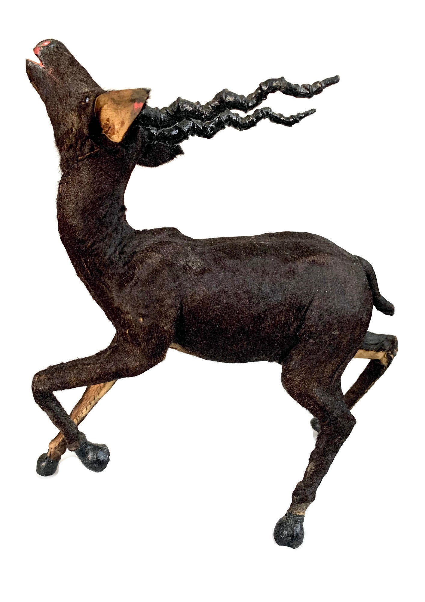 folk art antelope with real hide