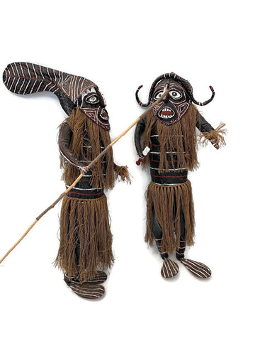Folk Art African or Aboriginal Warriors
