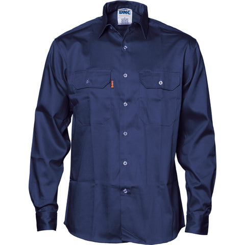 Patron Saint® Flame Retardant Drill Shirt, Long Sleeve DNC 3402