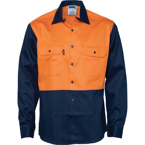 Patron Saint® Flame Retardant Two Tone Drill Shirt - L/S DNC 3406