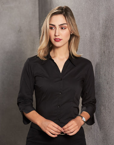 BS07Q - Ladies Teflon Executive 3/4 Sleeve Shirt Winning Spirit
