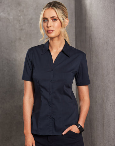 BS07S - Ladies Teflon Executive Short Sleeve Shirt Winning Spirit