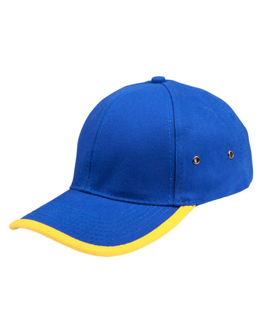 CH17 - Heavy Brushed Cotton Structured Cap With Peak & Back Trim Winning Spirit