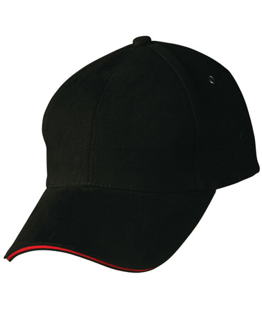 CH18 - Heavy Brushed Cotton Structured Cap with Sandwich Peak Winning Spirit