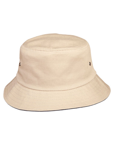 CH32A - Enzyme Washed With Contrasting Underbrim Bucket Hat Winning Spirit