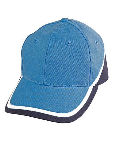 CH38 - Tri-Colour Heavy Brushed Cotton Structured Cap Winning Spirit