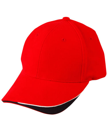 CH68 - Triple Sandwich Heavy Brushed Cotton Cap Winning Spirit