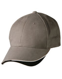 Triple Sandwich Heavy Brushed Cotton Cap CH68