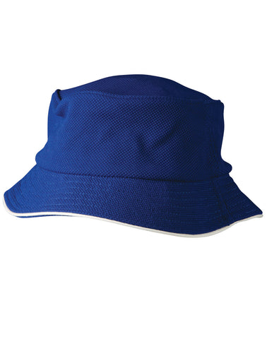 CH71 - Pique Mesh With Sandwich Trim Bucket Hat Winning Spirit