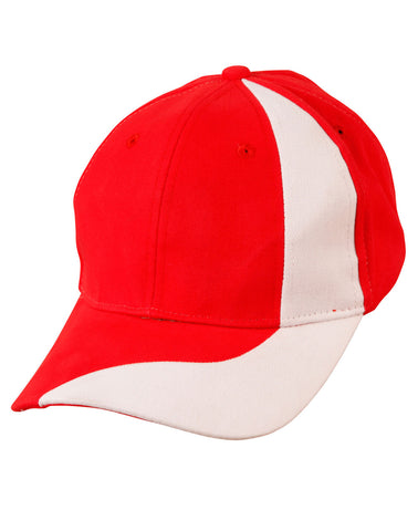 CH82 - Brushed Cotton Twill Baseball Cap With Contrast Stripe Across Peak & Crown Winning Spirit