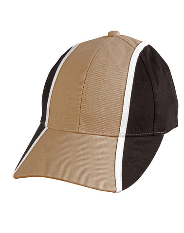 CH83 - Heavy Brushed Cotton Tri-colour Baseball Cap Winning Spirit
