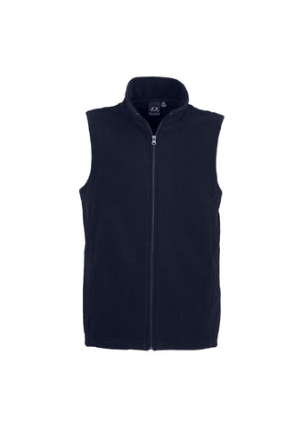 Mens Plain Micro Fleece Vest F233MN