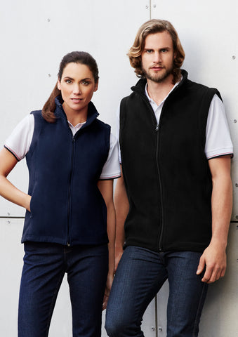 F233MN - Mens Plain Micro Fleece Vest Biz Collection
