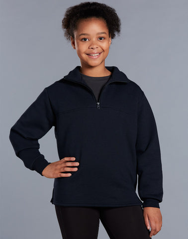 FL02K - Kids American Style 1/2 Collar Fleecy Sweat Top Winning Spirit