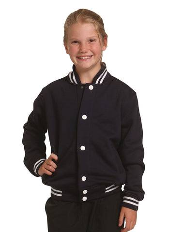 FL11K - Kid's Fleece Varsity Jacket Winning Spirit