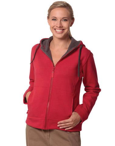 FL18 - Ladie's Full Zip Contrast Bonded Fleece Hoodie Winning Spirit