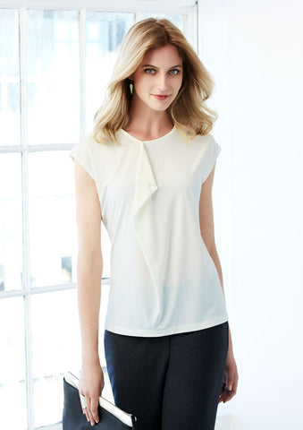 K624LS - Ladies Mia Pleat Knit Top Biz Collection