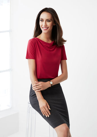 K625LS - Ladies Ava Drape Knit Top Biz Collection