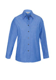 Ladies Wrinkle Free Chambray Long Sleeve Shirt LB6201