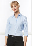 LB8200 - Ladies Micro Check 3/4 Sleeve Shirt Biz Collection