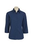 Ladies Micro Check 3/4 Sleeve Shirt LB8200