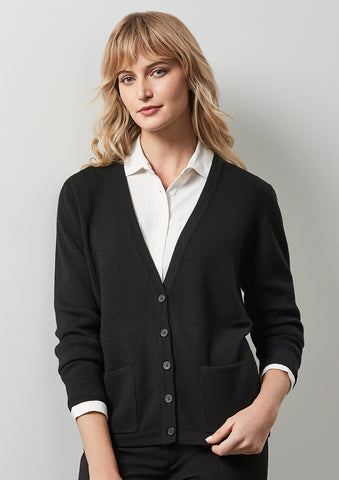 LC8008 - Ladies Woolmix Cardigan Biz Collection