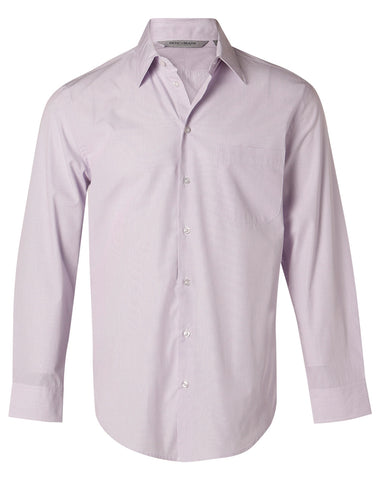Mens Mini Check Long Sleeve Shirt M7360L