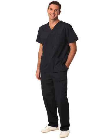 M7630 - Unisex Scrubs Short Sleeve Tunic Top Benchmark