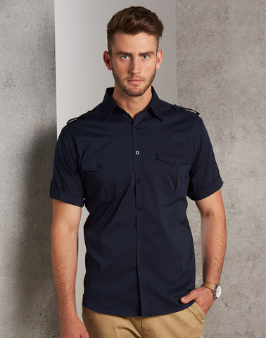 M7911 - Mens Short Sleeve Military Shirt Benchmark