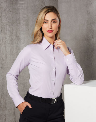 M8040L - Ladies CVC Oxford Long Sleeve Shirt Benchmark