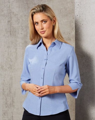 M8600Q - Ladies CoolDry® 3/4 Sleeve Shirt Benchmark