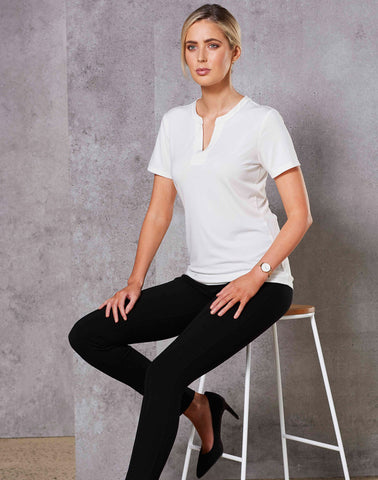 M8840 - Ladies Sofia Stretch Short Sleeve Knit Top. Benchmark