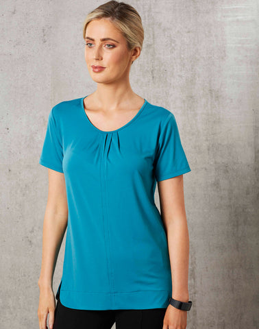 M8850 - Ladies Julia Stretch Short Sleeve Knit Top. Benchmark