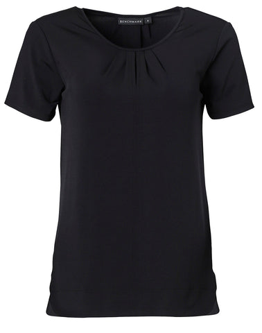 Ladies Julia Stretch Short Sleeve Knit Top. M8850