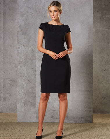 M9281 - Ladies Wool Blend Stretch Cap Sleeve Dress Benchmark