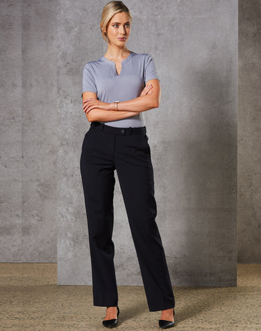 M9400 - Ladies Wool Blend Stretch Slim Leg Flexi Waist Pants Benchmark