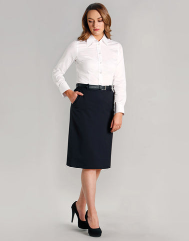 M9478 - Ladies Poly/Viscose Stretch A-line Utility Lined Skirt Benchmark