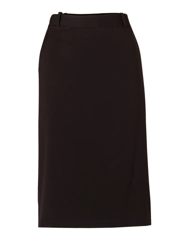 Ladies Poly/Viscose Stretch A-line Utility Lined Skirt M9478