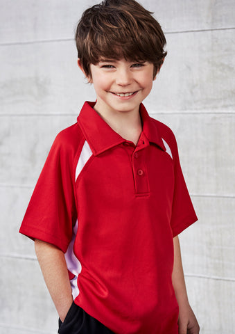 P7700B - Kids Splice Polo Biz Collection