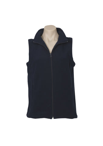 Ladies Plain Micro Fleece Vest PF905