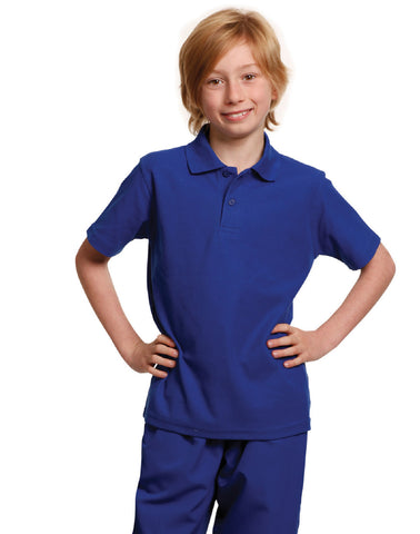 PS11K - Kids Poly/Cotton Pique Knit Short Sleeve Polo (Unisex) Winning Spirit