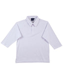 Mens TrueDry Mesh Knit Short Sleeve Cricket 3/4 Sleeve Polo PS29Q