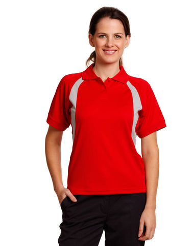PS52 - Ladies CoolDry® Mesh Contrast Short Sleeve Polo Winning Spirit