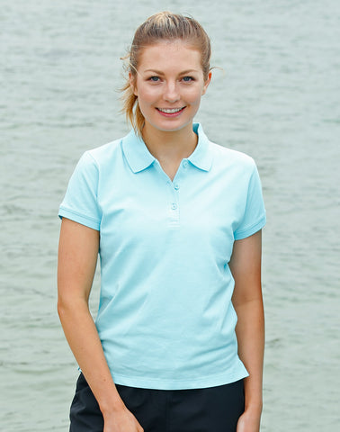 PS56 - Ladies Cotton Stretch Short Sleeve Polo Winning Spirit