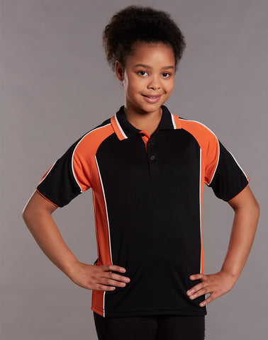 PS61K - Kids CoolDry® Contrast Short Sleeve Polo with Sleeve Panels Winning Spirit