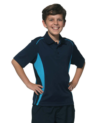 PS79K - Kid's CoolDry® Short Sleeve Contrast Polo Winning Spirit