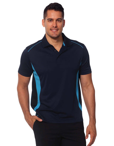 PS79 - Mens CoolDry® Short Sleeve Contrast Polo Winning Spirit